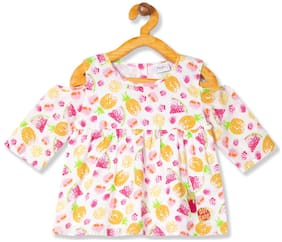 Donuts Cotton Printed Top for Baby Girl - Multi