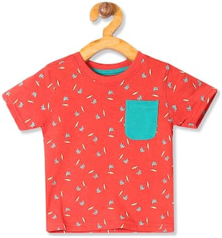 Donuts Cotton Printed T shirt for Baby Boy - Red