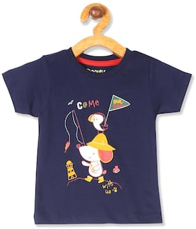 Donuts Cotton Printed T shirt for Baby Boy - Blue