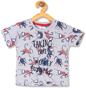 Donuts Cotton Printed T shirt for Baby Boy - Grey