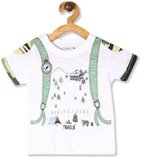 Donuts Cotton Printed T shirt for Baby Boy - White