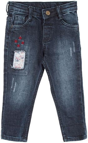 Donuts Baby girl Cotton blend Solid Jeans - Blue