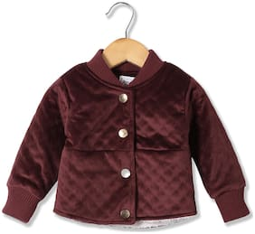 Donuts Baby girl Polyester Solid Winter jacket - Red