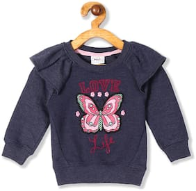 Donuts Baby girl Cotton Printed Sweatshirt - Blue