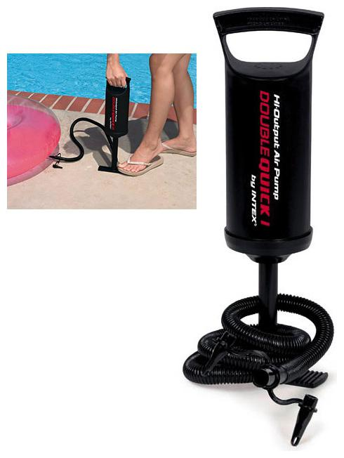 Double Action Quick Air Pump Inflatables, Pool, Toys Etc Hand Pump Float, Ball, Balloon  1Pc  Black