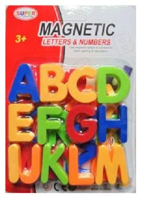 DP Endeavors Alphabets Capital Letter With Magnet For Smart Learning Toy (Multicolor)