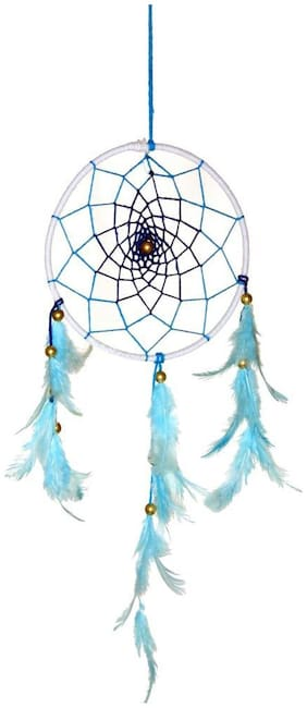 Dream Catcher By Rooh Wellness- Blue And White (Small)