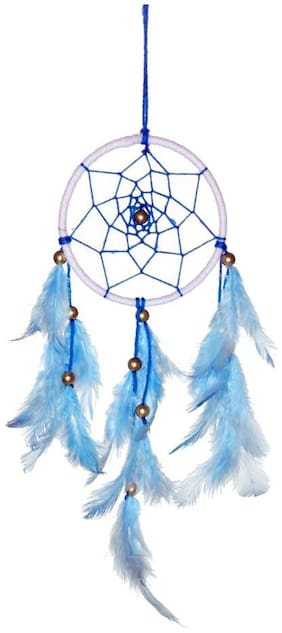 Dream Catcher By Rooh Wellness- Blue And White (Medium)