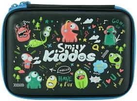Smily Single Compartment Pencil Case (Black) | pencil cases for girls stylish | pencil case girls | eva pencil case for girls | Kiddos Pencil case