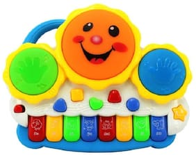 Drum Keyboard educational Musical Toys with flashing lights- animal sounds and songs for kids