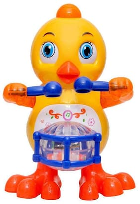 Drums Playing Duck with Music Flashing Lights, Real Dancing Action, Multi Color