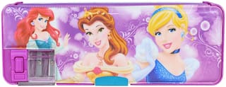 Dual Sided Compartment Multipurpose Pencil Box with Dual Sharpener Print with Disney Princess