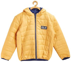 Duke Boy Blended Solid Winter jacket - Yellow