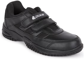 Duke Black Unisex Kids School Shoes