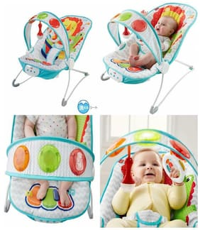 Durable Fisher-Price Fun 'n Fold Bouncer Lion Colorful Machine-Washable Seat Pad