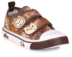Trilokani Brown Casual Shoes For Infants