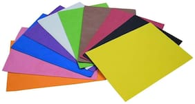 DWeS Multi Color Eva Foam Sheet A4 (Pack of 10 sheets)