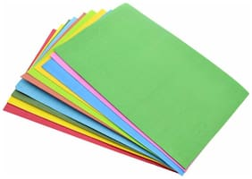 DWeS Multi Color Sheet A4 for Photocopy, Craft Projects, Scrapbook (Pack of 100 sheets)