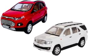 E-Chariot 2 Combo Pull Back Fortuner & Eco Sports Toy Car (Colour May Vary as per Availability)