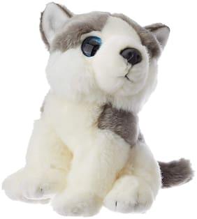 E-Chariot Soft Toys Wild Watchers Husky Dog Plush Stuffed Animal Cuddlekins by Wild Republic (88802) 7 inch