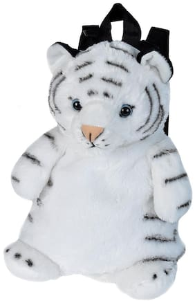 E-Chariot Soft Toys White Tiger Backpack Plush Stuffed Animal Cuddlekins by Wild Republic (20884) 14 Inches