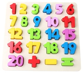 E-Chariot Wooden Educational Learning Board for Kids (Numbers)