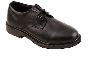 E-Lyte Black Boys School Shoes