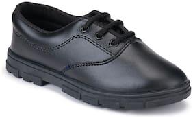 Earton Black Boys School Shoes
