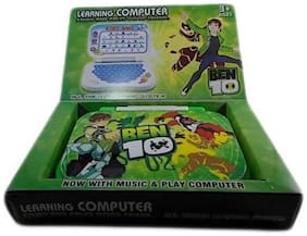 Educational ABC and 123 Learning Kids Laptop Colours- Green & Blue (Shipped Randomly) WWR-08