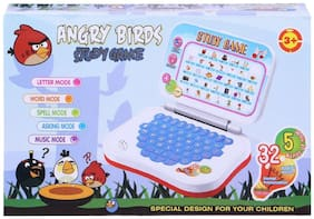 Educational ABC and 123 Learning Kids Laptop Colours- Green & Blue (Shipped Randomly) WWR-07