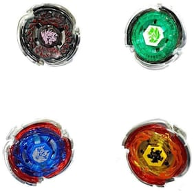 eEdgestore 4 Beyblade Set with Handle Launcher Metal Fighters Fury Battle Blade 4D System Toy Indoor Competition Kids Tops Spinning Bey Blade Top
