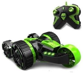 eEdgestore 5 Round LED Light 360 degree 5 Rounds Stunt Remote Control Double stunt car (Green)  (Green)