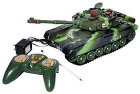eEdgestore Big Size Remote Control Full Function Rechargeable combat army Tank  for kids assorted