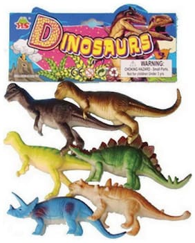 eEdgestore Dinosaurs Animals Plastic Toys for Kids ( 6 pcs. Pack )
