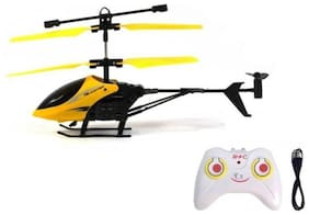eEdgestore FLYING REMOTE CONTROL HELICOPTER WITH SAFETY REMOTE FOR KIDS FOR GIFTS  Exceedio remote control helicopter for kids assorted