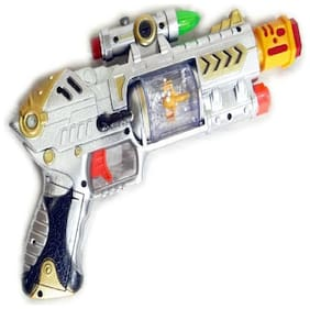 eEdgestore Infrared Beam Laser Sound Gun with light & music (Multicolor) for kids  (Multicolor)