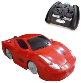 eEdgestore Remote Remote Control Wall Climber Zero Gravity Stunt Car Rechargeable With 360 degree Rotation & Lights-4 Channel