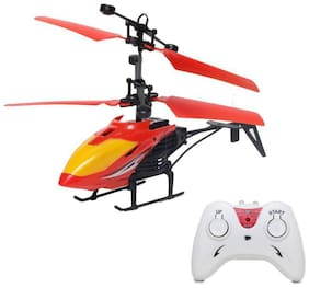 eEdgestore Rechargeable 2-in-1 Remote and Hand Sensor Flying Helicopter