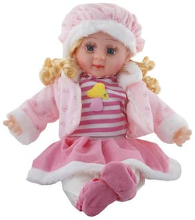 eedgestore Stuffed Soft Toy Girl Poem Doll (the color and dressing of the dress may vary) (Multicolor)