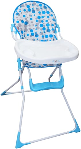 eHomeKart Baby High Chair  - Cushioned and Foldable Baby Feeding Chair with Safety Belt and Foot Rest - for Babies and Toddlers