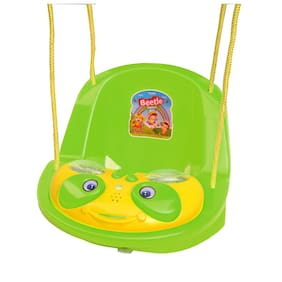 Ehomekart Beetle Musical Baby Swing for Kids- Green
