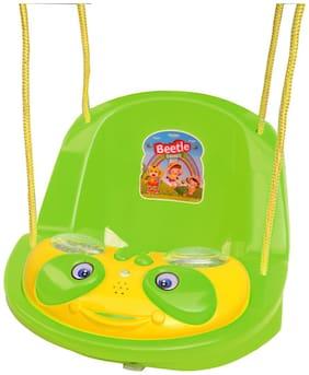 Ehomekart Beetle Musical Baby Swing for Kids- Green