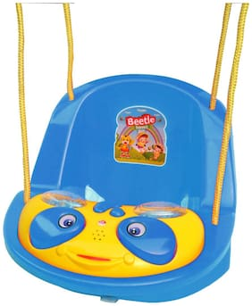 Ehomekart Beetle Musical Baby Swing for Kids- Blue