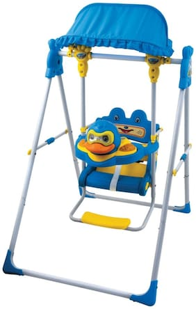 Ehomekart Blue Daizy Musical Garden Swing For Kids
