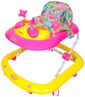 Ehomekart Crystal Musical Walker -Pink And Yellow