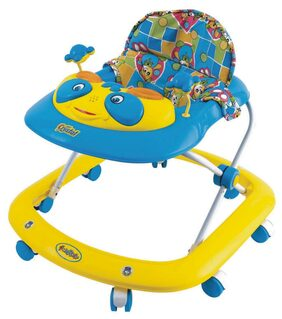 Ehomekart Crystal Musical Walker -Blue And Yellow