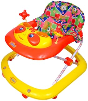 Ehomekart Crystal Musical Walker -Red And Yellow