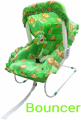 Ehomekart Green Carry Cot 7-in-1 For Kids