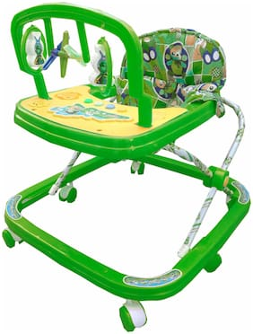 Ehomekart Green Classic Adjustable Musical Walker For Kids