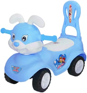 eHomeKart Kids Bunny Ride On - Honey Bee Baby Rabbit Rider with Music , Backrest and Storage Box - for Boys and Girls of Age 1 year to 4 years (Blue)